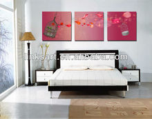 romantic rose flower group canvas wall art
