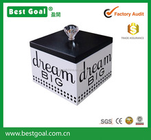white wooden jewelry box with black lid small gift box