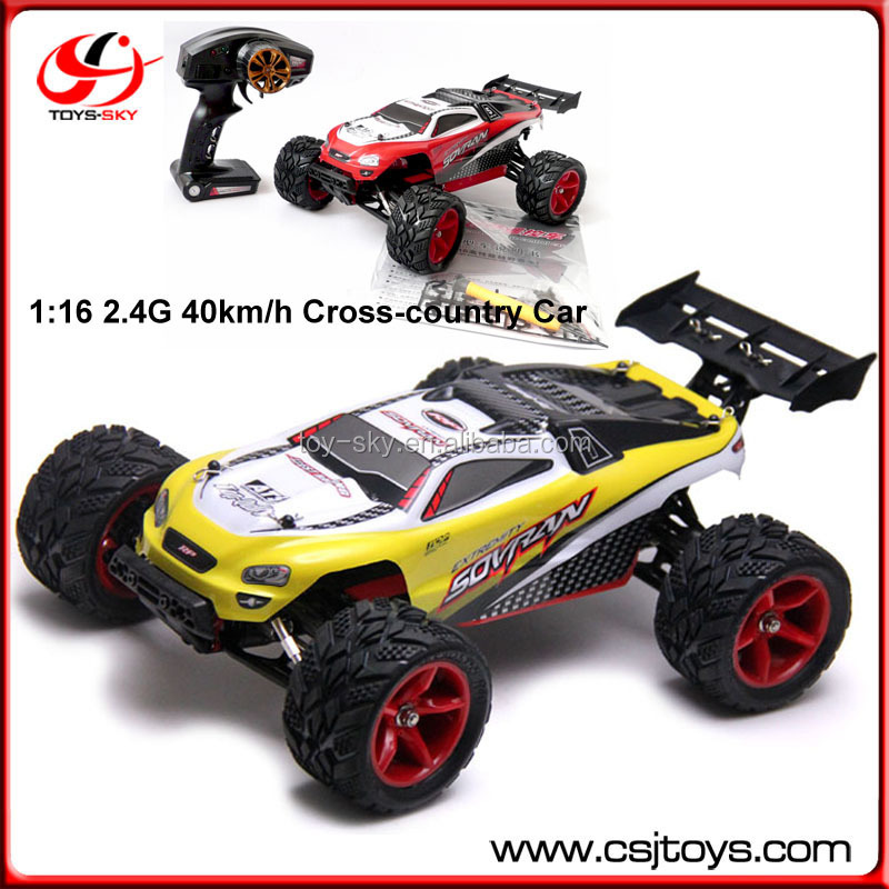 Wholesale 2.4G Remote Control Racing Car Model 1/16 40km/h 4WD Truck Battery Electric RC Toy Cars