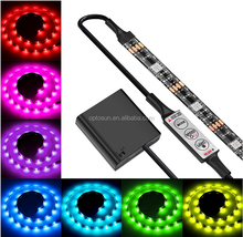 high quality Blister Pack flexible LED Strip Set SMD5050 RGB remote controlled battery operated led strip light