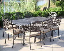 Garden Metal Dining Set / Cast Aluminum Outdoor <strong>Furniture</strong>
