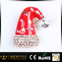 hot sale christmas hat shape brooch pins