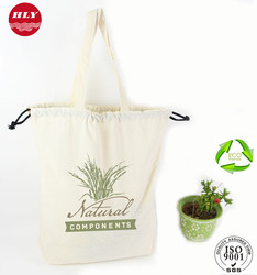 Wholesale promotional Custom Drawstring Canvas Packaging Bags