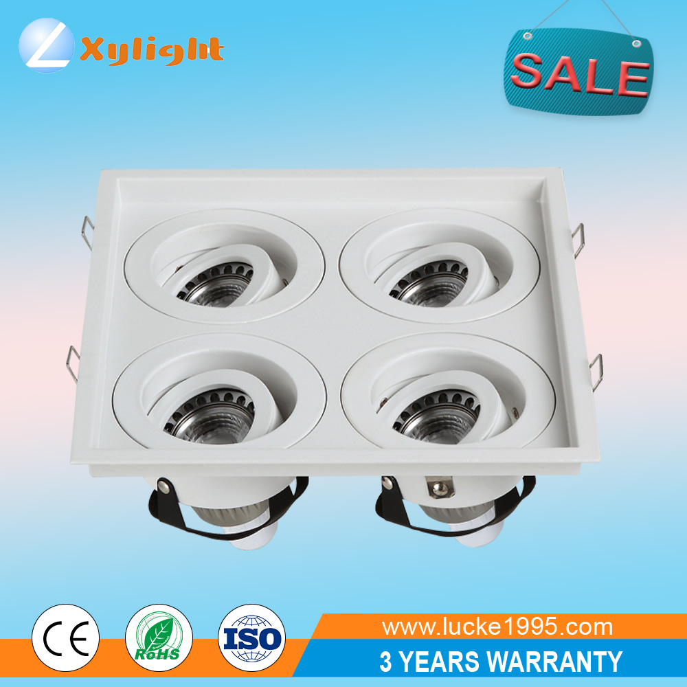 LED Celling 4 head dowlight fittings kits lighting fixtures in foshan