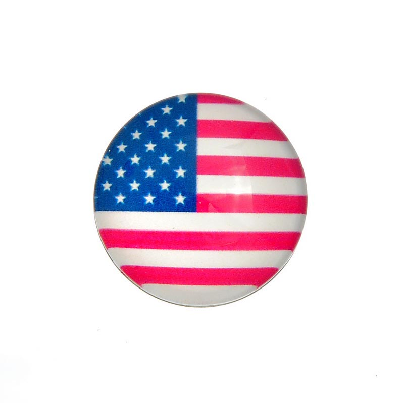 Custom 18mm USA flag Wholesale Ginger Snap Button Jewelry