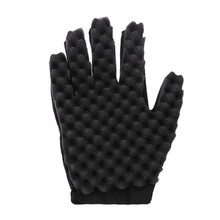Hand shape Glove Hair Curl Sponge Brush Magic Twist Coil Wave for Natural Hair Tool
