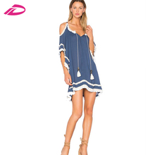 New Design casual women short mini half sleeve hooded beachwear evening dresses