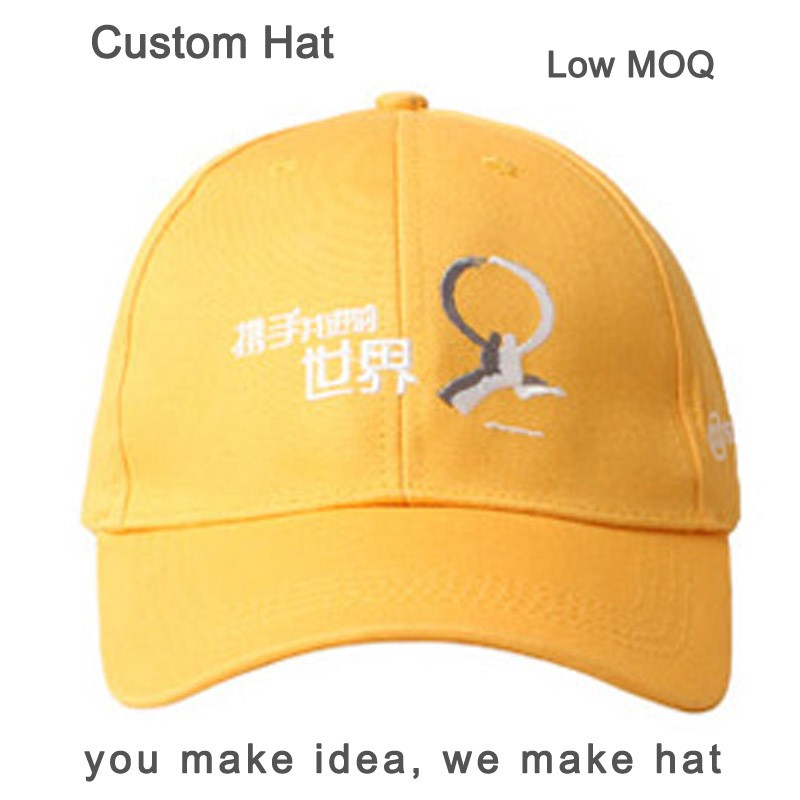New design orange metal buckle baseball hat 5 panel embroidery logo 100% cotton cap