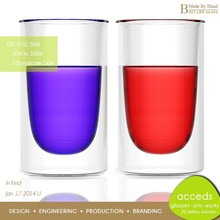 Unique Pyrex Glass Customized Decorative Wholesale Insulated Wine Cup