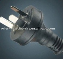 Australia 3 pin plug with SAA RoHS approval 0.75mm2 and 1.0mm2