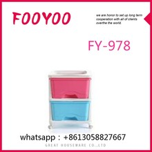 FY-978 TWO-TIER CLEAR WATERPROOF PLASTIC CONTAINER STORAGE BOX WITH WHEELS FOR CLOTHES ORGANIZER