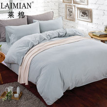 Best quality handmade plain cotton bed sheets bedding set