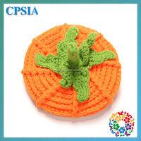 Halloween gift for kids cute Crochet pumpkin newborn hat pattern knitting baby hats