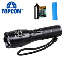 10W XML Led Aluminium Emergency Zoomable High Power Led Torch 8000 Lumen Led Rechargeable FlashLight