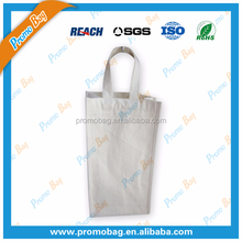 Two Bottles Cotton Wine Bag With Cotton Diagonal Divider