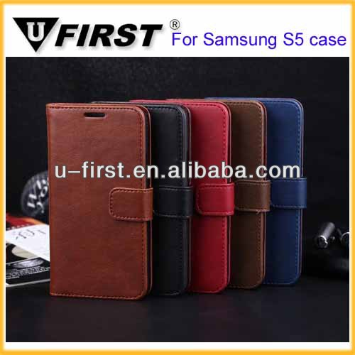 2014 new model hand phone wholesale or customized leather cell phone case for samsung galaxy s5