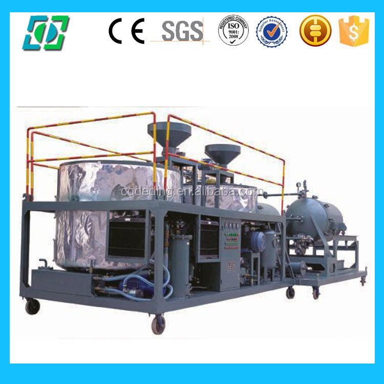 DTS Mobile Type Waste Used Mobil Oil Recycling Machine ( change black to yellow )