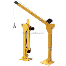 Foldable and telescopic boat cranes