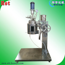 Jacketed mixing vessel with visual glass window