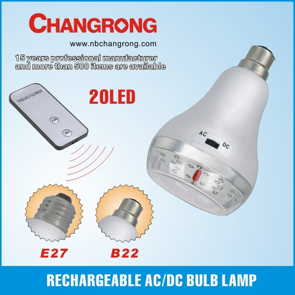 plastic emergency AC/DC battary operated oven lamp bulb