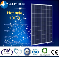 2016 year good quality pv solar panel with full certificate 100w poly solar module made in China