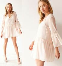 HSD3027 New fashion ladies clothes tiered dress flare long sleeve latest dress designs photos
