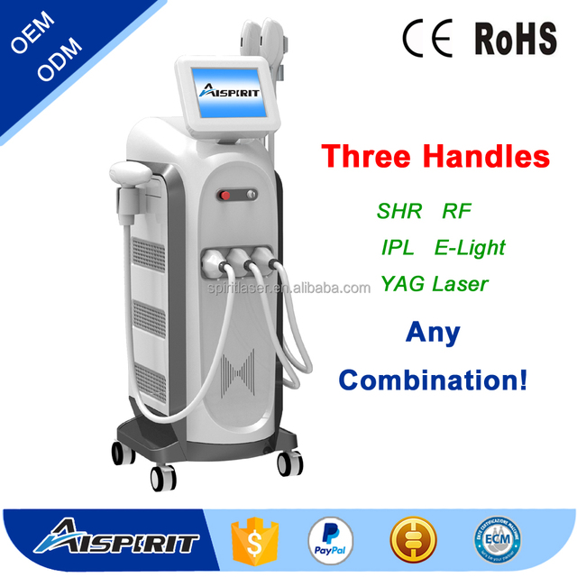 ND YAG Laser with SHR IPL And Acne on skin and face treatment 3 in 1 Beauty Equipment