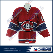 Custom design sublimation print ice hockey jersey nation league hockey jersey
