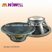 "24"" subwoofer 3000 W peak power with dual voice coil"