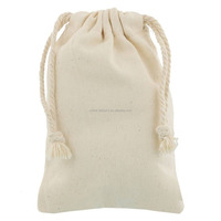 high quatity cotton drawstring bag