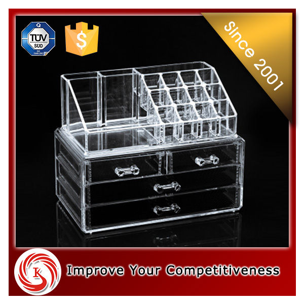 china supplier cosmetic online shop acrylic cosmetic make up display unit