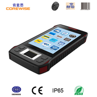 Android mobile phone touch Screen Handheld PDA 1D 2D Barcode Scanner, RFID reader writer, biometric fingerprint scanner
