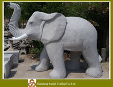 granite carved large garden stone elephant