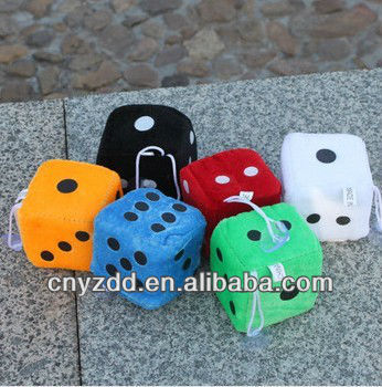 plush dice toys/soft toy dice /plush dice toy
