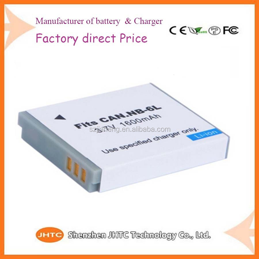 1600mAh High capacity for Canon SD1200 SD770 D10 NB-6L camera digital battery