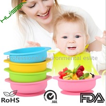Hot sale silicone baby bowl Eco-Friendly baby bowl with suction baby bowl