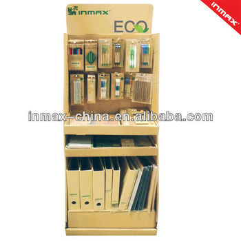 Eco-range stationery items in PDQ packing