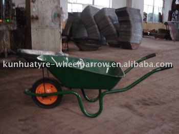 rubber wheel barrow
