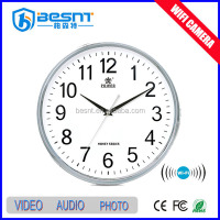 2016 Made in China night vision HD wireless 720P on wall wireless WiFi invisible clock camera BS-734