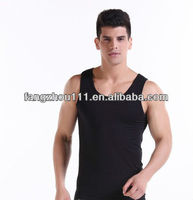 factory price pure cotton white vest, tank top for man