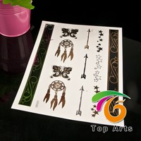 Bracelets Jewelry Inspired Metallic Gold and Silver Temporary Golden Tattoo Stickers