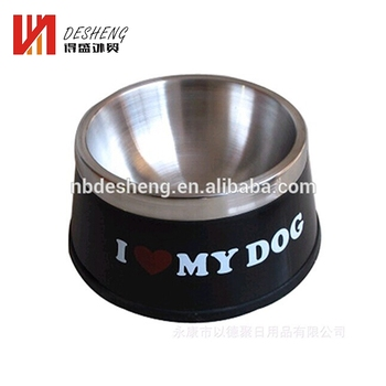 Wholesale pet bowls feeder dog with stand bowl stainless steel