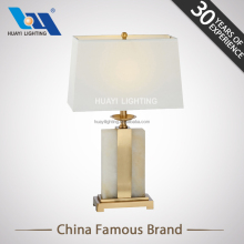 Hotel decoration classic simple lighting design bedside square marble table lamp modern for bedroom