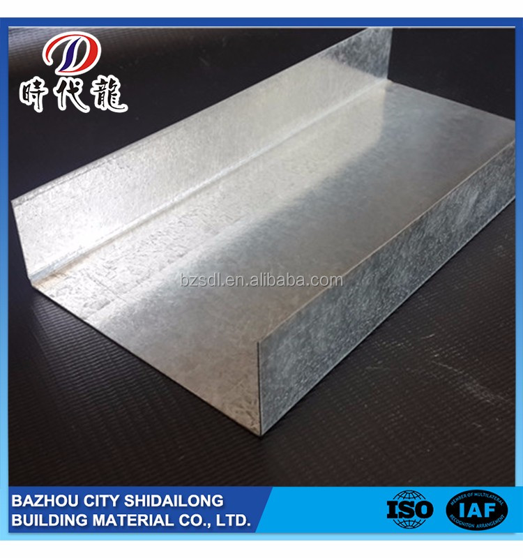 Factory direct sale wall protection high strengh c channel metal stud sizes