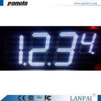 White color digital gas petrol station led price sign