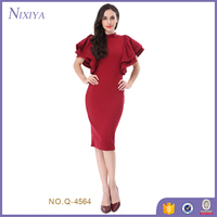Hole in Back Red Cheap Elegant Bodycon Dress