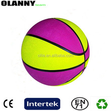 new design different sizes 380-480g made in china yellow basketball