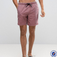 manufacturer China 100 % nylon drawstring waistband mesh lining three pockets wholesale swimwear