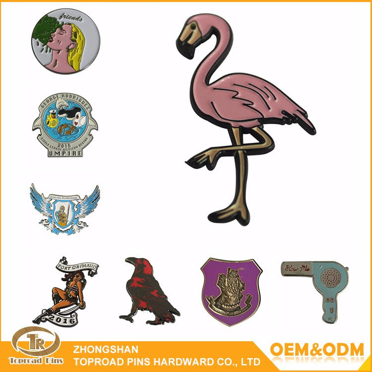 2016 Toproadpins High quality metal wholesale custom animal metal logo lapel pin