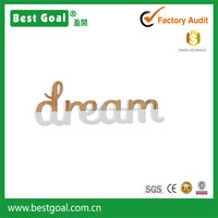 """dream "" wooden decoration wall words"